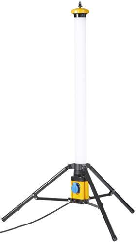 Northpoint LED Tower Turm 50W 360 ° Baustrahler Arbeitsstrahler IP54 mit Schalter und Steckdose 5000 Lumen…