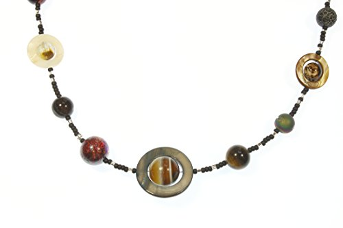 - Style-ARThouse Dark Worlds a Necklace of Possibly Hostile Exoplanets, 23 Inches Adjustable