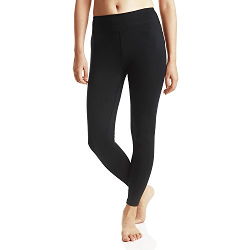 Mumianshu Thermal High Waisted Yoga Pants Capris For Women With Pockets Tummy Control Workout Running Leggings