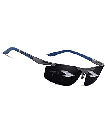 ad4ece75577d Polarized Sports Sunglasses Driving Glasses Shades for Men Women Square Sun  glasses Classic Design Mirror