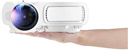 ホームシアター プロジェクター HDホームプロジェクタースマートポータブルエンターテイメントミニ投影装置は720P 1080Pをサポート ゲーム機に対応 (Color : White, Size : 203*153*75mm)