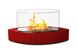 Anywhere Fireplace - Lexington Tabletop Ethanol Fireplace in Red