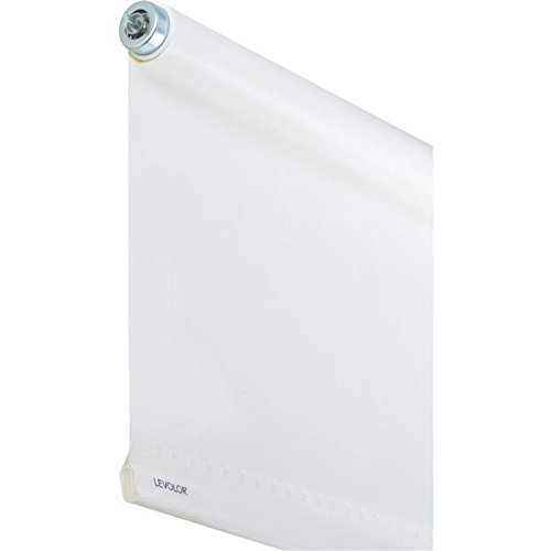 Levolor White Heavy Weight Room Darkening Roller Shade 30-39 Inches 37