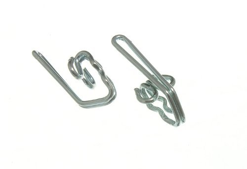 CURTAIN HEADER TAPE HOOKS CP CHROME PLATED METAL ( pack of 50 ) x 2