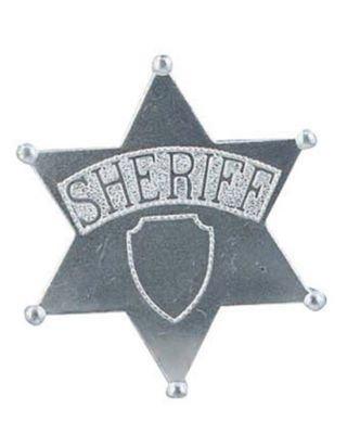 Forum Novelties Unisex-Adults Sheriff Badge Jumbo, Silver, Standard