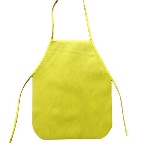 ❤️Jonerytime❤️Children Waterproof Cartoon Kitchen Cooking Bib Apron Paint Eat Drink Outerwear (Yellow)]()