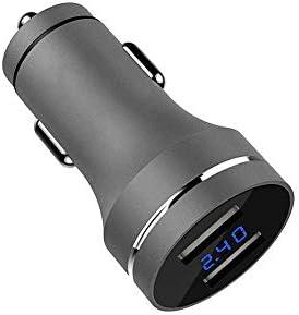 HWEN 高速ライターアダプタ充電電圧検出ミニ車のシガー充電メタルデュアルUSB
