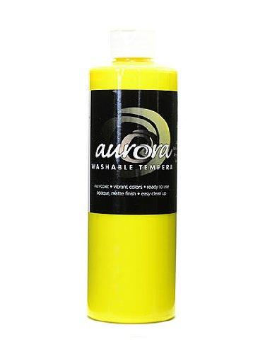 Chroma Inc. Aurora Washable Tempera yellow [PACK OF 4 ]