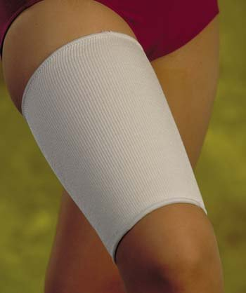 Thigh Support - Small Soft beige knitted elastic, slips on easily to provide compression.