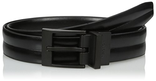 Kenneth Cole REACTION Men's Black To Black Reversible Dress Belt, black/black, 34