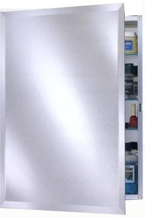 Afina Broadway Recessed Single Door Medicine Cabinet With Beveled Mirror  Size   24W X 30H In