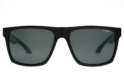 O'Neill Men's Harlyn Polarized Square Sunglasses, Gloss Black, 56 mm