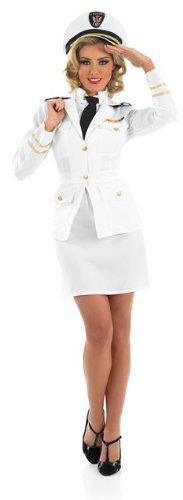 1940s Naval Officer Female Fancy Dress Costume - XL (US (1940 Fancy Dress Costumes)