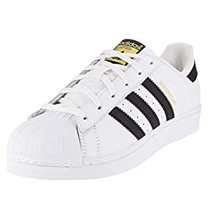 adidas Originals Women's Superstar Sneaker, White/Black/White