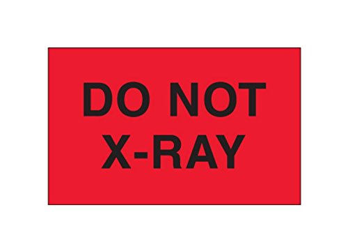 RetailSource DL2361x1 3 x 5 - Do Not X-Ray, (Fluorescent Red) Labels, 3.25' Height, 5.75' Length, 5.75' Width (Pack of 500) 3.25 Height 5.75 Length 5.75 Width (Pack of 500) RetailSource Ltd