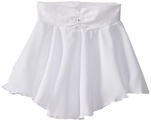 Capezio Little Girls' Pull-On Georgette Skirt, White, Small