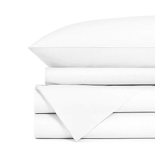 Standard Textile - Standard Textile 100% Cotton Hotel Luxury Sheet Set (White, Queen)