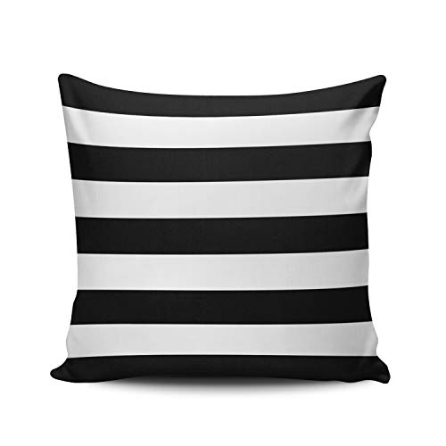 KAQIU Home Decoration Pillowcase Cover Black and White Stripe Outdoor Custom Pillow case Cushion Fashion Chic Double Sided Printed Design European Size 26x26 Inch (Pillow Shams Custom)