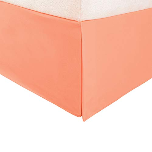 Superior 100% Brushed Microfiber Pleated Bed Skirt Twin/x -Large Coral