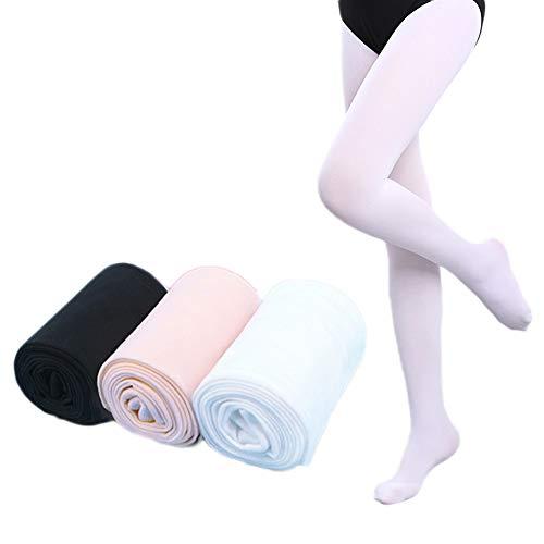 - Dejian 3 Pairs Toddler Little Girls Cotton Soft Ballet Tights Velvet Stockings Pantyhose Dance Ballet Tights for Girl (S:(1-3 Years))