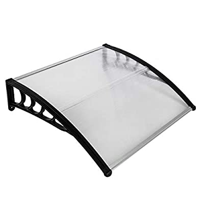 100 x 100 Household Application Door & Window Mute Anti-Smash Rain Cover Eaves Black Holder Transparent UV Awning for Outdoor Patio, Balcony, Sill : Garden & Outdoor