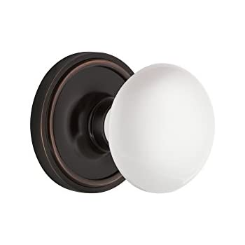 Gainsborough Genuine Porcelain Door Knob Set (Non-Locking Hall ...