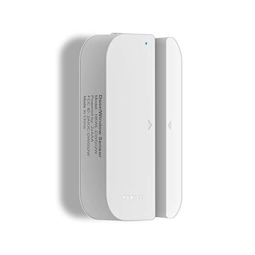 (WiFi Door/Window Sensor,2018 New Wireless Smart Security Alarm Doorbell Magnet Contact Sensor with Easy App for Home Office Business Burglar Alert,Compatible with Alexa Google Home IFTTT)