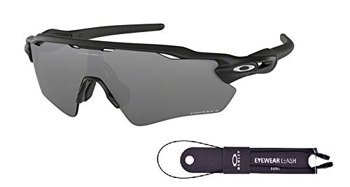 (Oakley Radar EV Path OO9208 920851 38M Matte Black/Black Prizm Polarized Sunglasses For Men+BUNDLE with Oakley Accessory Leash)