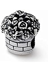 Sterling Silver Flower Bouquet Charm Bead Fits Pandora Chamilia Biagi Bracelet