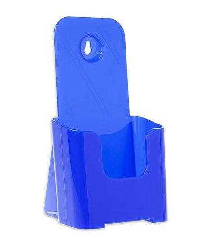 Source One Tri Fold Brochure Holder 4X9 (48 Pack, Blue)