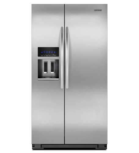 Kitchenaid KSC23C8EYY 35 1/2-Inch, 23 Cu. Ft. Counter-Depth Side-by-Side Refrigerator ()