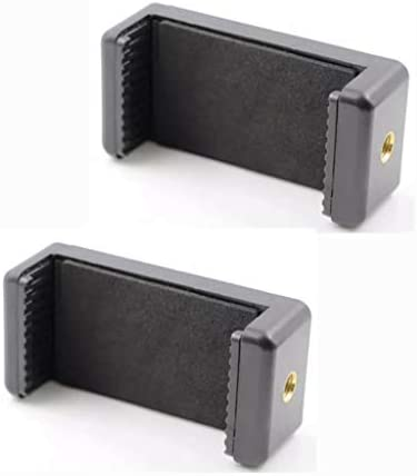 KESOTO 2X三脚ユニバーサル携帯電話ホルダー回転360垂直および水平、調整可能なクランプ、パッド入りホルダー