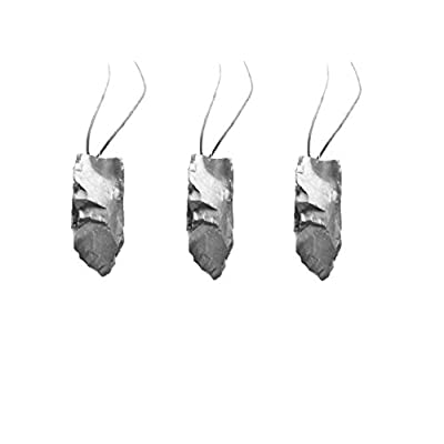 Hot Karelian Heritage: Genuine Elite Shungite Pendants 3 Pieces, healing crystal, root chakra stone S024 for sale