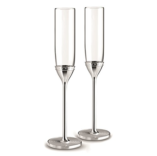 Wedgwood 40019717 with Love Nouveau Toasting Flute Pair, Clear