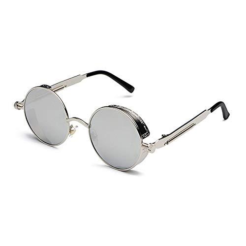 Silver Claires Classique Necct Style Lunettes Punk Rondes Et Mirror De Soleil Rouges xwvBfqUO