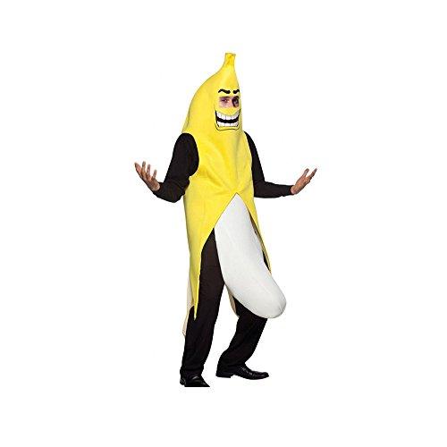 [Men's Banana Deluxe Adult Banana Suit Funny Christmas Adult Costumes] (Banana Deluxe Adult Costumes)