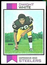 1973 Topps Regular (Football) Card# 140 Dwight White of the Pittsburgh Steelers VGX Condition -