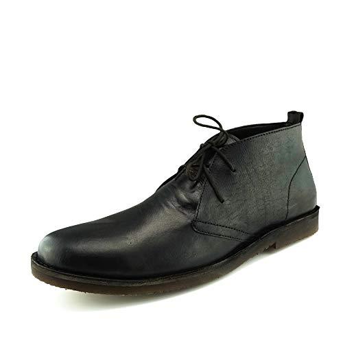 Marrone Caviglia Chelsea Uomo Deserto In Nero Pizzo Pelle Boots Scuro XwTnqS7Fn