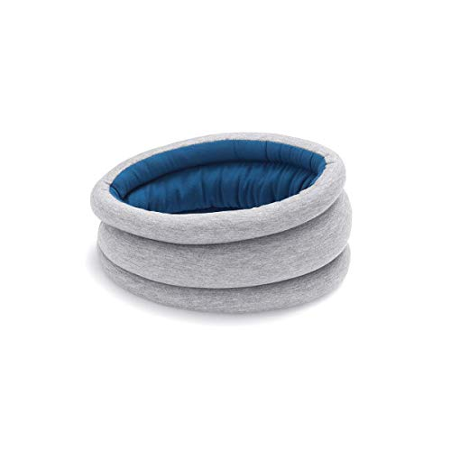 OSTRICH PILLOW Light Travel Pillow for Airplane Neck Support - Travel Accessories for Head Rest, Power Nap on Flight - Blue Reef