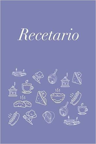 Recetario: Libreta a rayas pequeña, libro de recetas ...