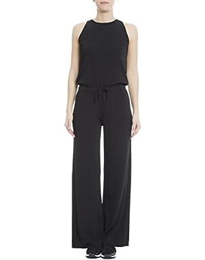 Theory Women's H0216719001 Black Viscose Jumpsuit