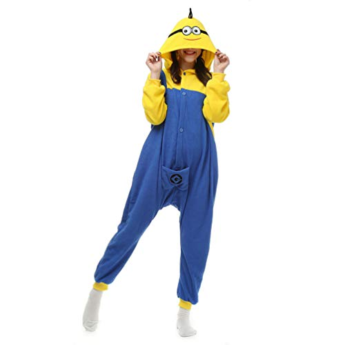 CHARWOR Unisex Adult Onesie Cosplay Costume Pajamas Halloween Xmas Gift Minions M -
