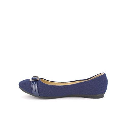 Femme Blue Ballerine Feutrine Cendriyon AZARA Mode Chaussures Opzwq
