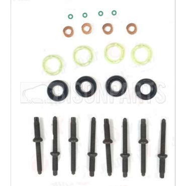 FUEL INJECTOR STUDS, SEAL, WASHER & O RING SET BISON PARTS