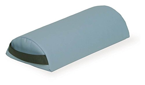 Half-Round-Massage-Table-Neck-Bolster-w-Strap-Handle-NaturSoft-Teal