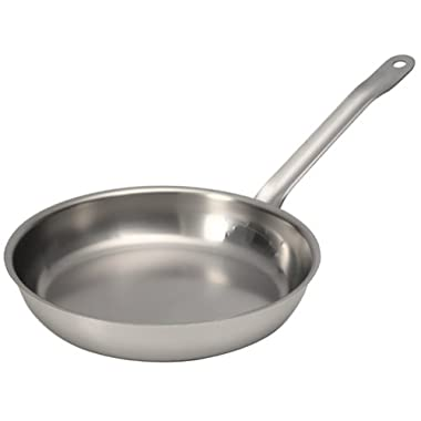 Sitram Catering 9-1/2-Inch Commercial Stainless Steel Fry Pan