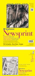Strathmore 300 Series Artists Newsprint - Blocco da disegno, fogli di carta con superficie grezza da 52 g/m2, 227 x 350 mm Strathmore Artist Papers 307-809