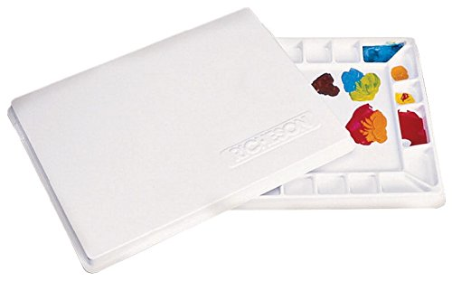 Jack Richeson 22 Wells Plastic Palette with Cover, 16 by 12-Inch 400207