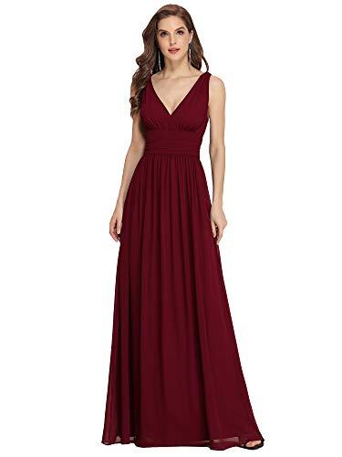 Ever-Pretty Women's V Neck Empire Waist A-Line Chiffon Long Evening Dress 09016