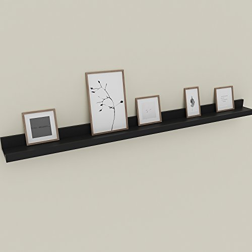 - Modrine Floating Picture Ledge Display Wall Mount Shelf for Picture Frames Book Display (Black, 47inch)